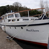 Hawthorn moored at the entrance to the old harbour....