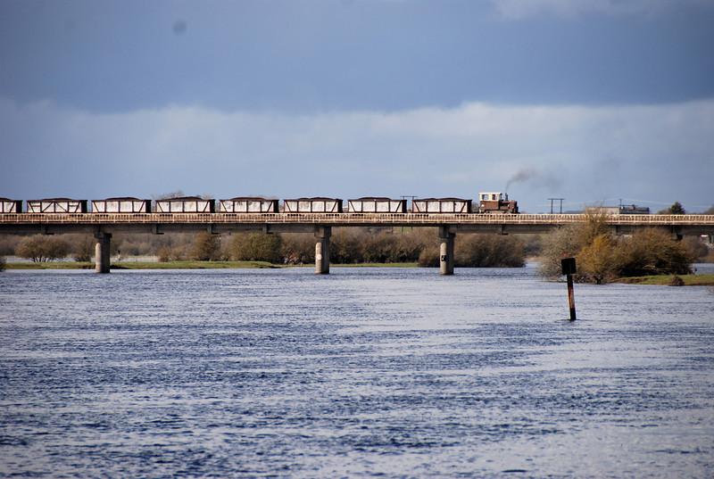 Bord-na-Mona bridge at Shannonbridge Power Station.