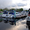 Some of the Cruising Club boats moored in Athlone on Saturday evening.