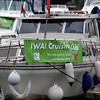'Miss Eva' sporting the newly acquired IWAI Cruising Club banner.