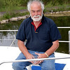 Saturday, 14.35...John Ryan enjoying the activities in Dromaan Harbour...