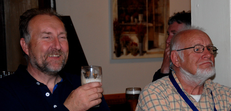 John Dunne ('Dom Perignon') and Archie Reid ('Miss Eva')
