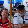 Mary and John enjoying a relaxing drink at Ti Joe Watty's pub/restaurant in Kilronan.