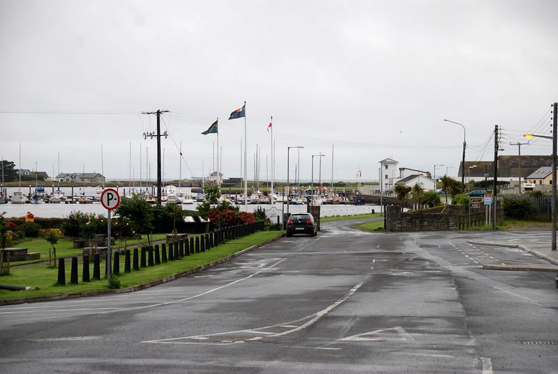 Kilrush Marina as seen from the main street in Kilrush.