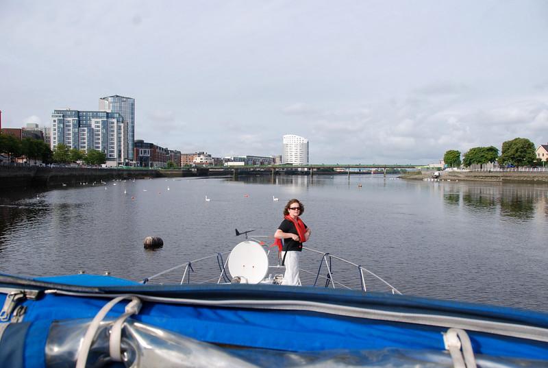 Through the lock...the Shannon Estuary beckons....