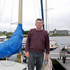 John Kinsella on his sailing yacht, SV Breakaway