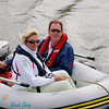 Geraldine & Louis enjoying a moment on their dinghy in Fenit Harbour.