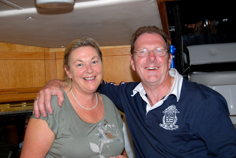 Hosts for the evening...Louis and Geraldine (Nauti Buoy).  The Irish Coffees went down a treat....