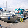 "Thursday, 12th August, 2010. <br /> <br /> ""Arthur"", Nauti Buoy and Besie moored side by side in Fenit Marina."