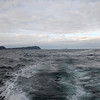 Looking astern, The Three Sisters in the distance...