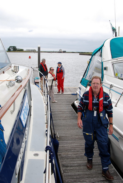 """Arthur"" (left) and Nauti Buoy (right) safely moored in Kilrush Creek Marina. The Sea Lock can be seen in in distance."