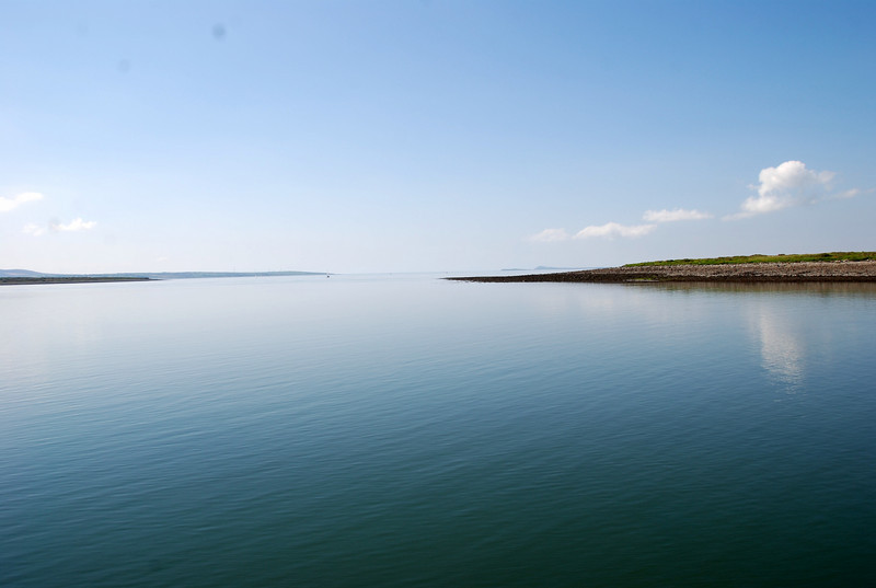 13.55...Looking down the estuary.  There are not many days that one would enjoy such calm waters on inland waterways!
