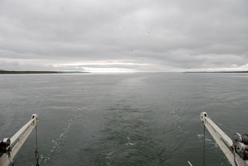 The Shannon Estuary...Kerry on the left, Clare on the right!