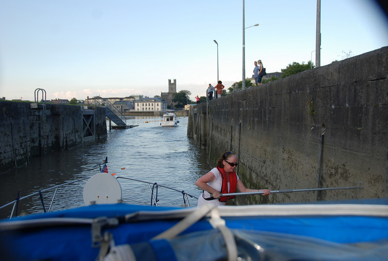 19.40...Exiting Sarsfield Lock and bound for Custom House Quay, Limerick.