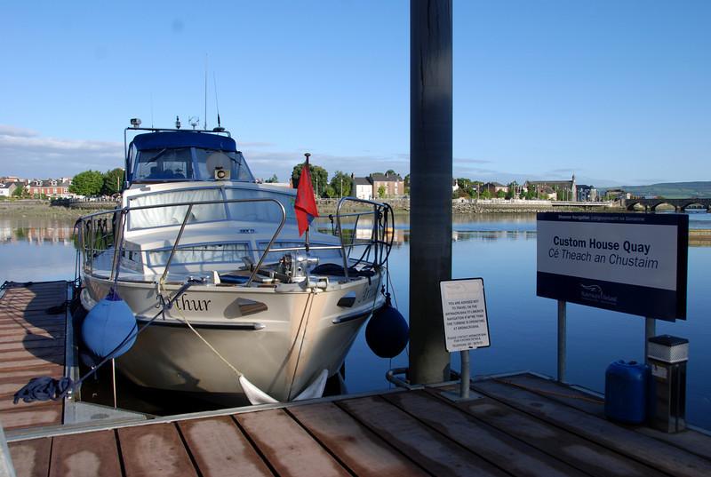 """""""Arthur"""" moored at Custom House Quay...."""