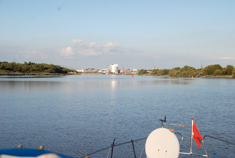 19.20....Approaching Limerick after a fabulous cruise back to Limerick.  And the weather held well the whole way!