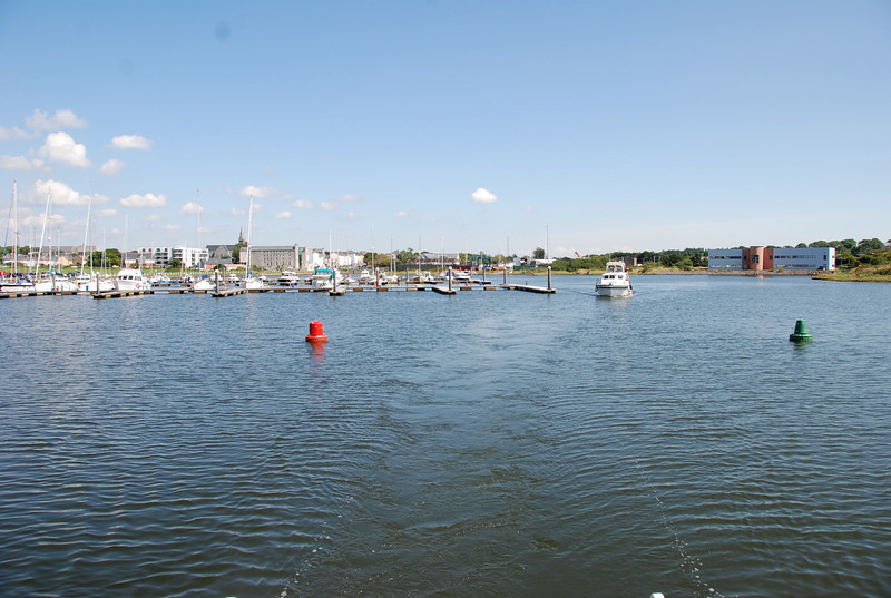 "Looking back at Kilrush Creek Marina as Besie and ""Arthur"" head for the lock."