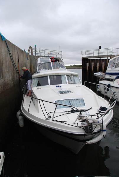 Besie in Kilrush Creek Marina lock.