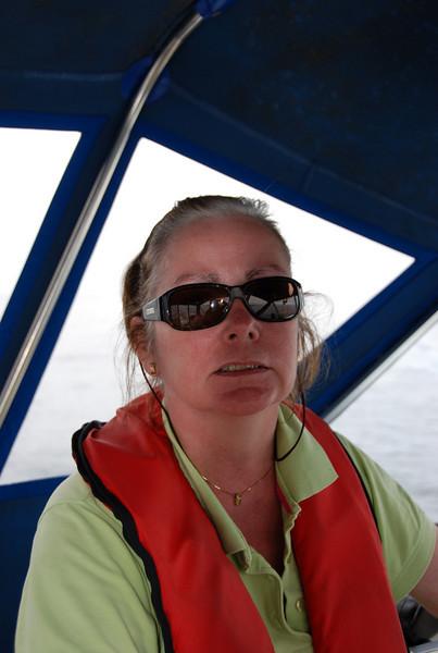 Mary enjoying the cruise...