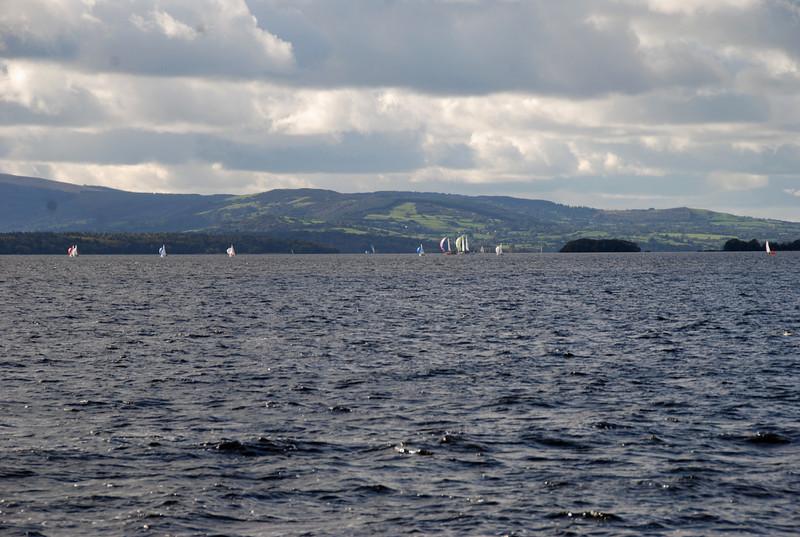 Sailing yacht enjoying the good weather on Saturday morning...