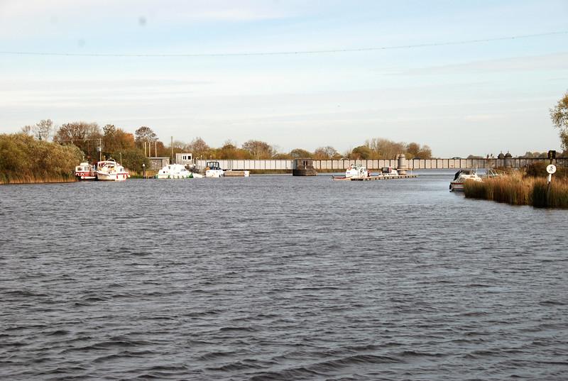 Portumna Bridge prior to the 12.30 opening...