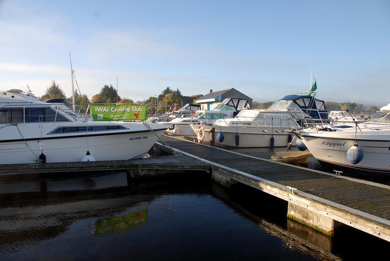 Part of the Cruising Club fleet in Dromineer on Sunday morning.
