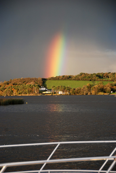 A wonderfully strong and very vivid rainbow photographed from Dromineer.