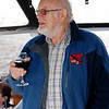 Archie Reid, Vice-Chairman of the Cruising Club, enjoying a glass of wine on Scappare.
