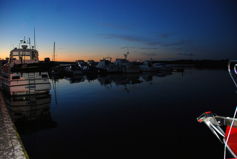 Dromineer Harbour late on Sunday evening...