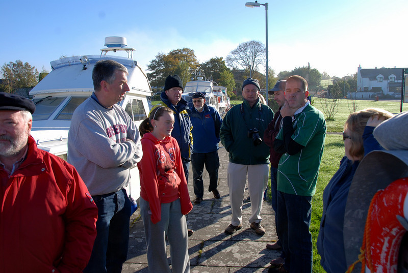 Captains Meeting...the decision was made to remain in Dromineer rather than re-locate to Mountshannon.