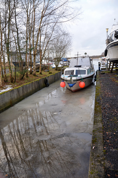 The slipway...ice clearly visible.
