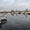 "Visited Maddens Marina on Tuesday, 28th December, after the Big Freeze. Ice has melted somewhat since our last visit on 12th December but it will be a few days yet before it has all melted. Fortunately good weather is due for the rest of the week. Photo shot from ""Arthur's"" stern."