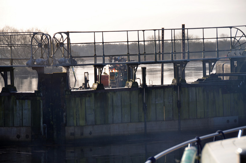 What's that on the other side of the lock gate?
