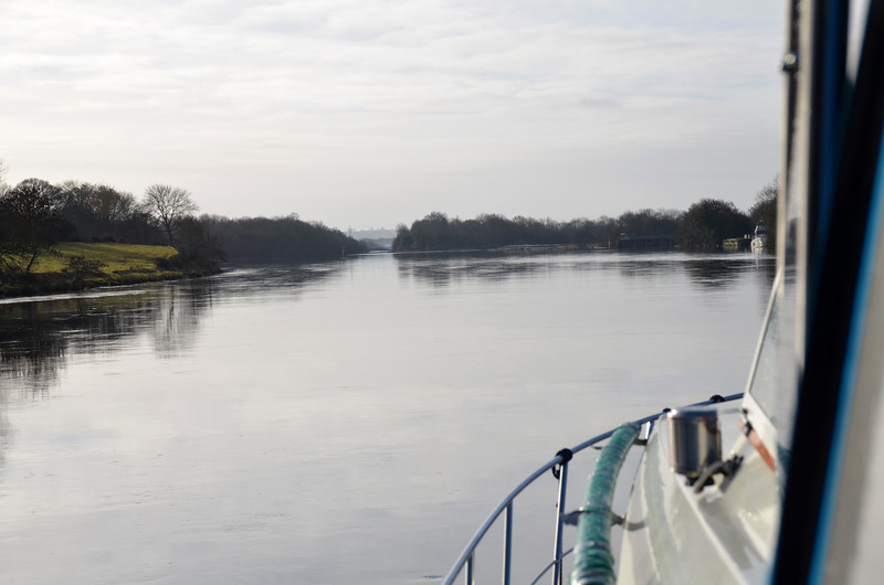Approaching the channel leading to Victoria Lock.