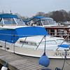 "Friday, 4th March 2011, ""Arthur"" in Maddens Marina complete with her new window covers courtesy of Boat Covers Ireland. This is our first visit since Captain was laid up for ten days due to an attack of Camplyobacter which is ...no, we do not want to go there.  Done and dusted. Fully recovered and rearing to get back on the water."