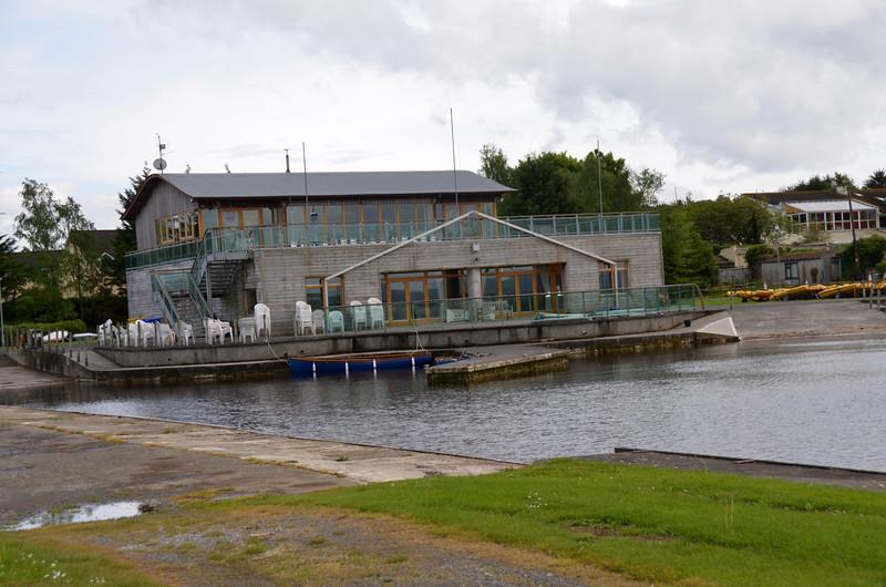 The impressive club house of Lough Derg Yacht Club. We arrived circa 10.30.