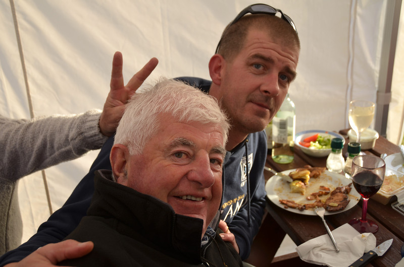 Two beasts and no beauties in sight! Mike Moroney (Explorer) and John Miley (Misty) enjoying the BBQ.