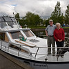IWAI members Mike & Helen Kingston on their boat 'Escapade' fresh from their trip on the Royal Canal, the first CIC on that canal. They arrived just at Dromod as we were getting ready to leave so we did not have time for a long chat. Hopefully next time!