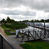 Floating jetty and public berths at Carrick-on-Shannon.