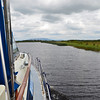 Cruising along gently towards Cootehall...and keeping a close eye on the water depth!