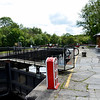 Clarendon Lock with the most impressive railings to adorn a lock gate!