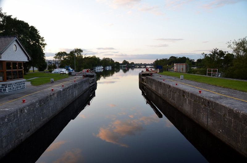 Monday evening...a view from the lock.