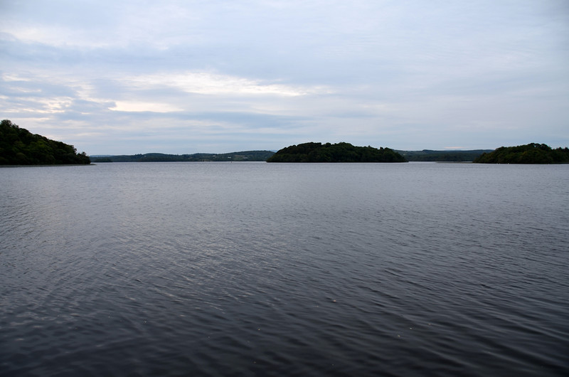 Looking back on Lough Key from Arthur's finger berth.