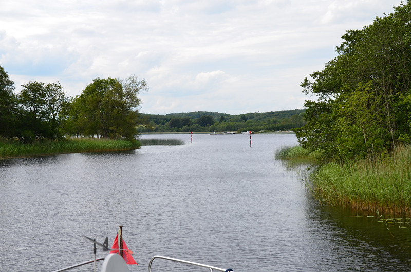 The approach to Lough Key...