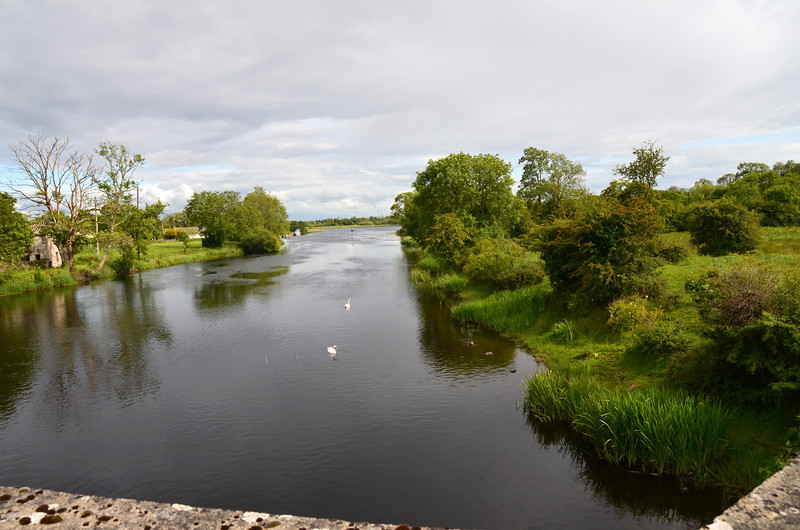 """View from the bridge in the village...""""Arthur"""" in the distance."""