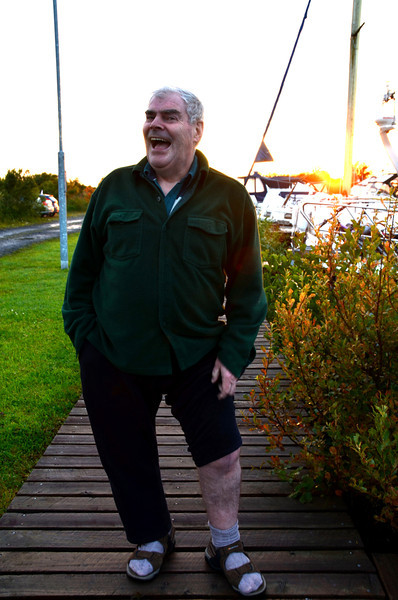 """Barry shows off his newly restored dancing leg...all ready for the Lough Derg Rally.<br /> <br /> And so ended a fabulous seventeen days on """"Arthur"""". We cruised in unfamiliar waters and discovered some fantastic locations including Tarmonbarry, Dromod, Drumsna, Carrick, Lough Key. And of course there were places that we did not get to visit, e.g. Carnadoe, Grange, Kilglass, Leitrim, Drumshanbo and Lough Allen.  We were mostly blessed with good weather and calm waters.<br /> <br /> There is no doubt in our minds but that above Lanesboro represents super cruising waters with fabulous scenery and good berthing options.  We will definitely be back......and it is likely to be sooner rather than later!<br /> <br /> And a special thanks to Conor Meegan for all his recommendations and general assistance.<br /> <br /> It was so nice to meet so many people who we knew through the IWAI Discussion Forum....great to be able to put faces to names!<br /> <br /> Paul,<br /> """"Arthur"""""""