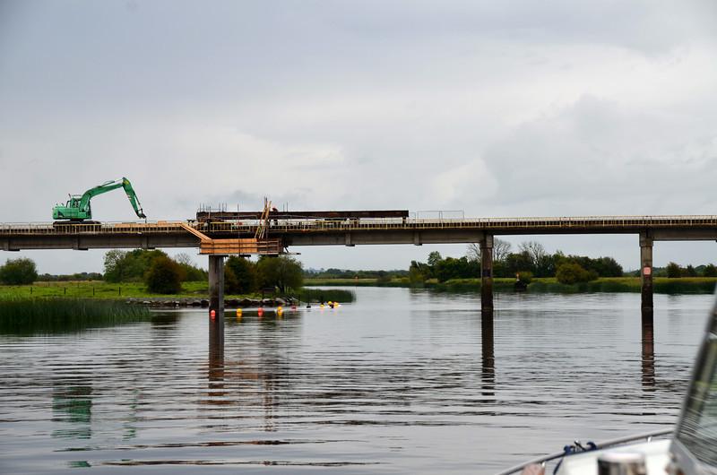 Repair work still ongoing at the Bord-na-Mona bridge at Shannonbridge.