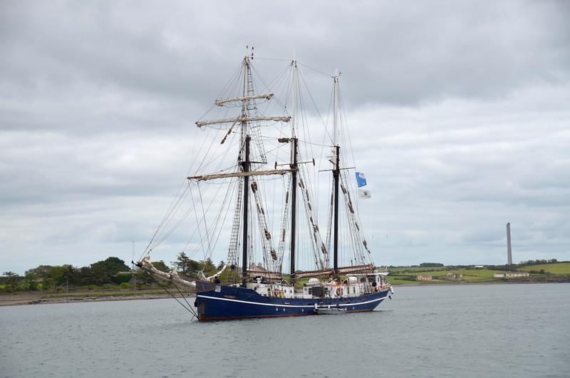 Salomon anchored off the public harbour at Kilrush.