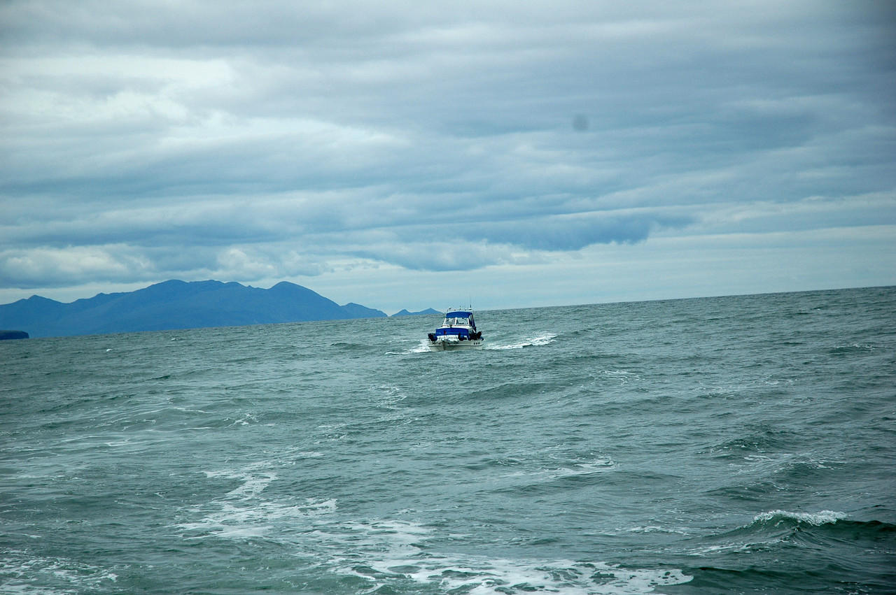 """""""Arthur"""" on the Shannon Estuary. The dark headland at left of picture is Kerry Head.<br /> <br /> Photo: Caoimhe Ryan"""