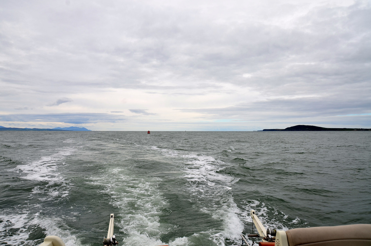 Approx. 14.30...Heading up the Shannon Estuary. We have been cruising for approx. 7 and 3/4 hrs since we left Dingle!